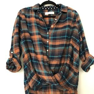 Anthropologie Flannel button-up Top